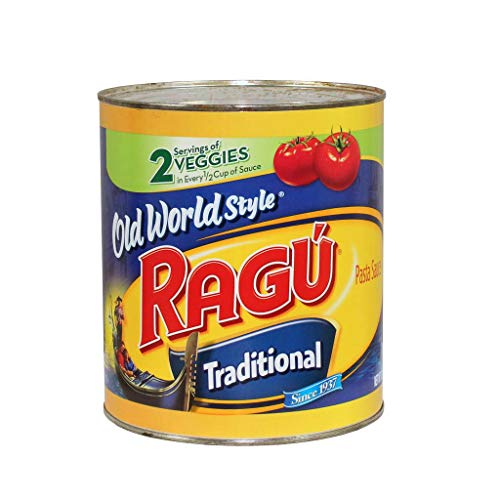 Ragu Old World Style Traditional Spaghetti Sauce, 107-Ounce Cans (Pack of 6)