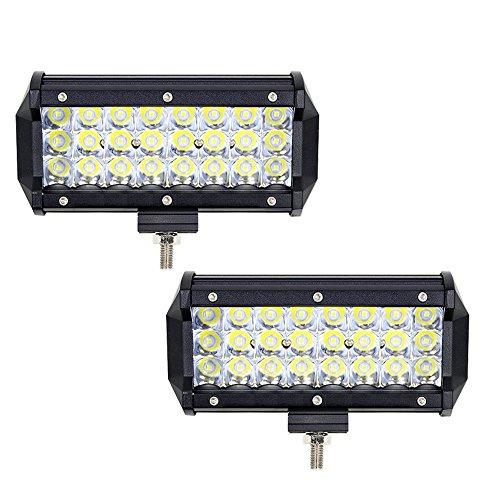 2 PCS 7 Zoll LED Arbeitsscheinwerfer 12v/24v WANYI LED Zusatzscheinwerfer 6000K 10800LM 72W Dreifachreihe Led Scheinwerfer Offroad