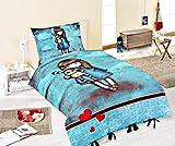Halantex Santoro Gorjuss - Juego de cama (140 x 200 cm, funda de almohada de 70 x 90 cm, 100% algodón)