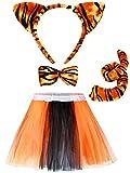 4 Pieces Tiger Costume Set Tutu Skirt Animal Fancy...