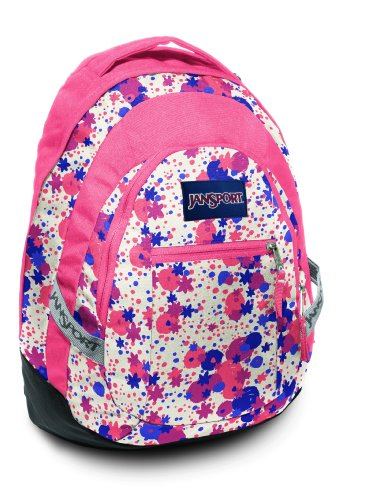 JANSPORT Performance Antics Trinity Rucksack mit Laptopfach 50 cm (Vanilla Ice White/Coral Sparkle)