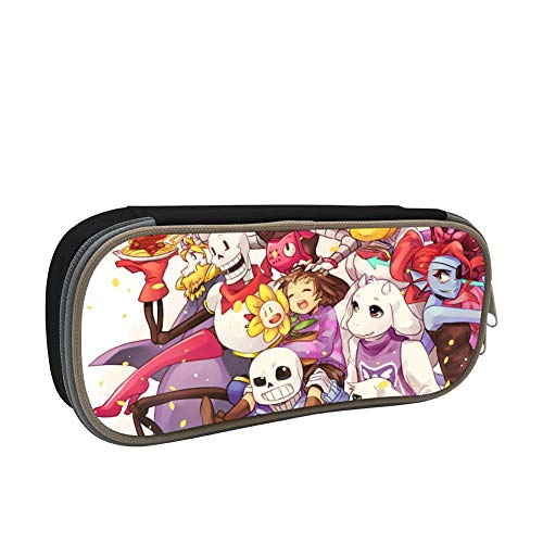KEITH WRIGHT Zipper Pencil Case Un-der-Tale Monsters Fashion Printed Pen Bags Students Pencil Holders Back to School Gift