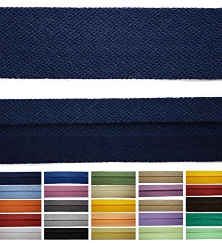 Roban Fashion Baumwoll Schrägband 40mm breit Textilband Blende in 24 Farben
