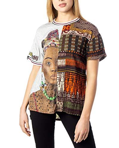 Desigual - Blusa Pisa Mujer Color: 4027 Talla: Size M