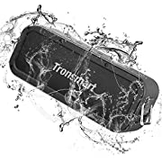 Portable Bluetooth Speakers, Tronsmart Force 40W IPX7 Waterproof Bluetooth 5.0 Wireless Speakers with Tri-Bass Effects, 15-Hour Playtime, TWS, Dual-Driver with Built-in Mic, NFC