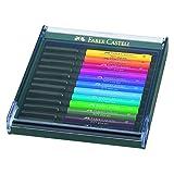 Faber-Castell PITT Artist Brush Pen Set of 12 Intensive Colours...