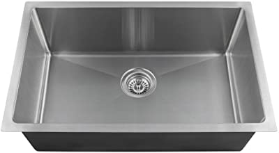 "2920S Single Bowl 3/4"" Radius Stainless Steel Sink, 18-Gauge, Sink Only"