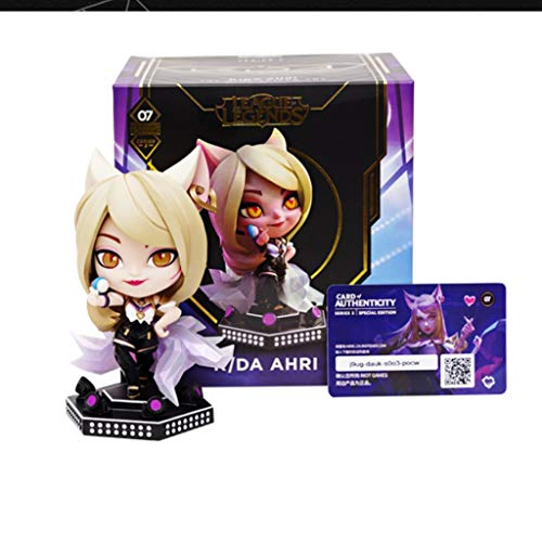 CJH LOL: Ahri (The Nine-Tailed Fox) Abbildung Q.Ver Geschenk-Spielzeug von LOL Spiel Peripherals Sammlung Statue Ornament