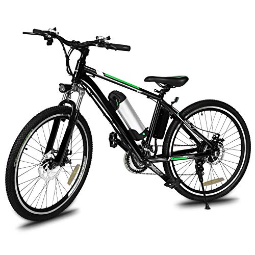 Yiilove Electric Bike for Adult 26'' Mountain Electric Bicycle Ebike 36V Removable Lithium Battery 250W Powerful Motor 21 Speed (Green)