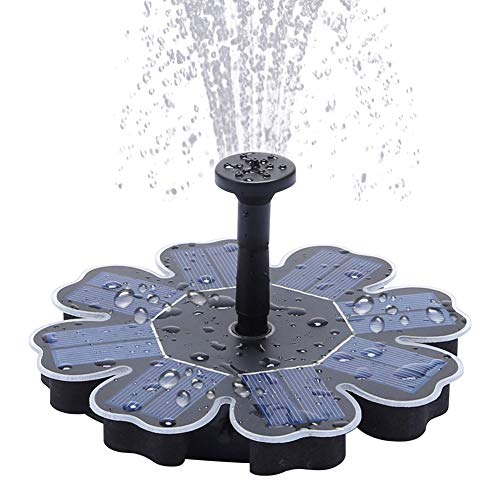 Solar Fountain Pump 1.7W Outdoor Solar Pond Pump for Bird Bath,Pool,4 Spray Solar Powered Garden Fountain Fountain