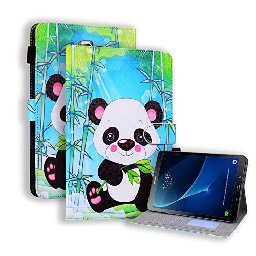WHWOLF Suitable for Samsung Galaxy Tab A6 10.1' 2016 Case (SM-T580/ T585) Tablet Wallet Flip Stand Cover Shockproof Protective Shell with Magnetic Clasp Card Pocket -sl70