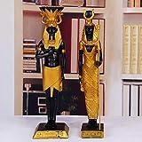 KARARI 2 Unids/Set Antiguo Egipto Dios Faraón Dios de la Guerra Estatua Artesanías de Resina Cleopatra Escultura de Arte Decoración de Escritorio para El Hogar Recuerdo R2915