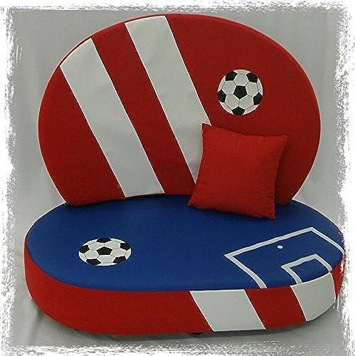 Ahorre hasta un 70% de descuento. Fitalia 'sofá Infantil Fútbol rojo rojo rojo azul, Fabricado en Alemania.  bienvenido a elegir