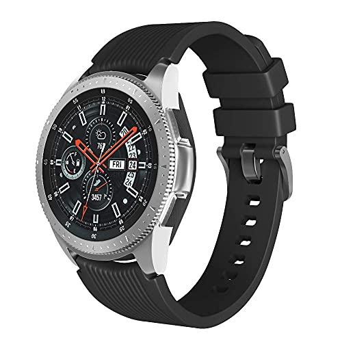 Apbands Compatible para Samsung Galaxy Watch 3 45mm/Galaxy Watch 46mm/Gear S3 Correa Deportiva de Silicona Suave para Huawei Watch GT2 Pro/GT2e/GT 46mm/Ticwatch Pro 3 Correa 22mmd
