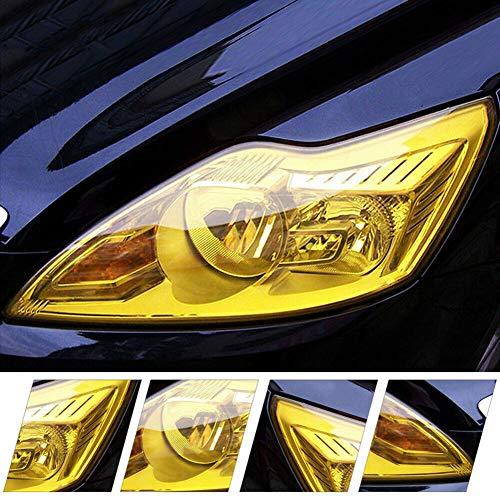 Pixnor - Abtönfolie für Autoscheinwerfer, Rücklicht, Nebelschlussleuchten, 30 x 120 cm), Gelb