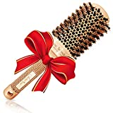 Blow Dry Round Volume Brush (2' Large Barrel) with Natural Boar Bristles for Blow-drying,...