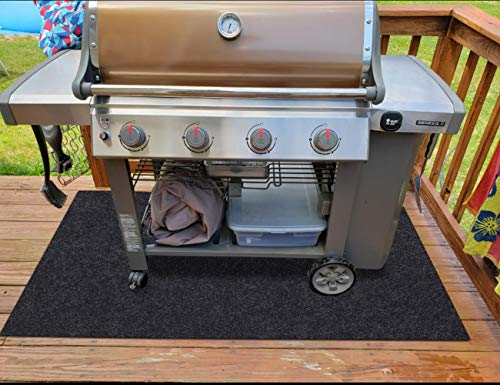 Gas Grill Mat,Premium BBQ Mat and Grill Protective Mat—Protects Decks and Patios from grease splashes,Absorbent material-Contains Grill Splatter,Anti-Slip and Waterproof Backing,Washable (36