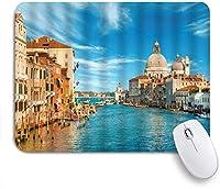 NIESIKKLAマウスパッド 水の都ヴェネツィアの構築 ゲーミング オフィス最適 高級感 おしゃれ 防水 耐久性が良い 滑り止めゴム底 ゲーミングなど適用 用ノートブックコンピュータマウスマット