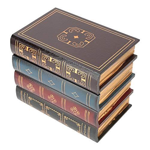 Caja de libro falso estilo retro europeo caja de almacenamiento en forma de libro decoración pequeña joyería libro de imitación libro antiguo libro de madera(B款小号)