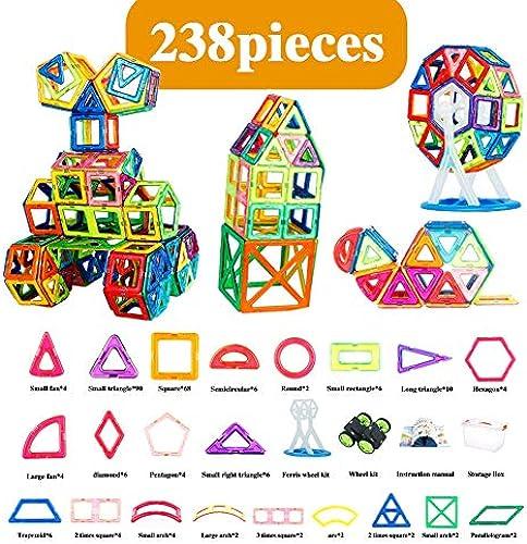 Hzl Magnetische Fliesen Bausteine P gogisches Spielzeug Set für Kinder 8 Anzüge,9