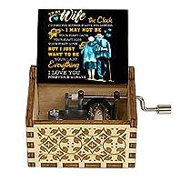 WDFDZSW 木造箱ハロウィーンクリスマスプレゼントフレンド夫妻妻娘息子、これはハロウィーンのオルゴールです (Color : 16)