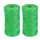 Giardino Spago naturale juta Spago 2 millimetri corda per giardinaggio Confezione regalo fai te Crafts 100M verde scuro