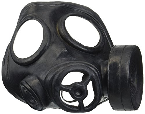 Loftus International Star Power Realistic Look Biohazard Costume Gas Mask Black One Size Novelty Item