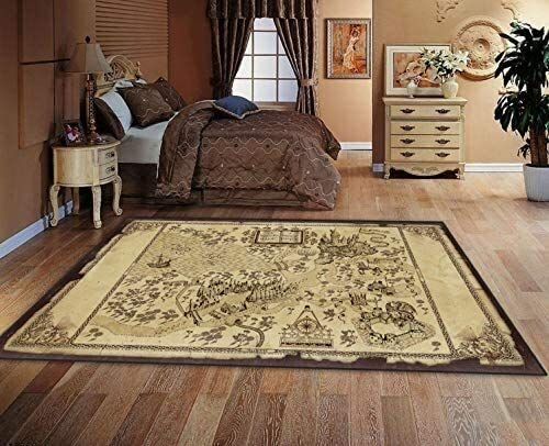 ZFDM Rugs Fashion Mats Harry Potter American Retro Magic World Map Living Room Personality Carpet Coffee Table Bedroom Bedsidedecoration 80cm*120cm (Size : 80cm*120cm)