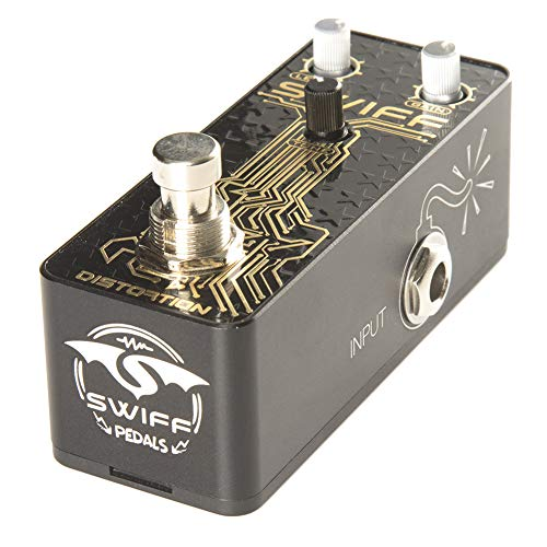SWIFF Newest Design Multi-functional Guitar Effect Pedal Distortion Classic Tone Effects DC 9V Power Input True Bypass Effector for all Electronic Musical Instruments(Distortion)