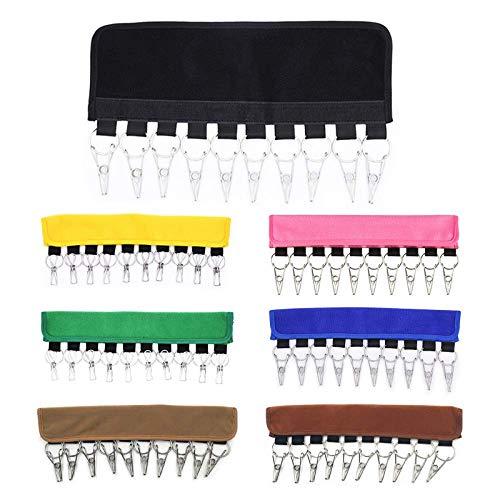 Cxjff Cap Organizer Hanger 10 Baseball Caps Halter Hats Organizer for Closet Hanger Clip (Color : Khaki)