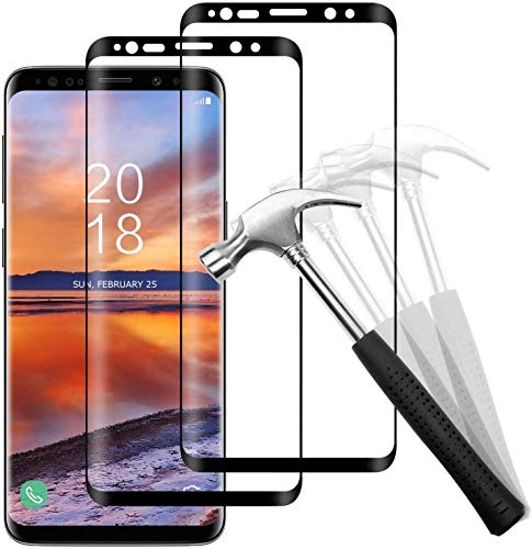 Snnisttek [2 Stück Galaxy S8 Panzerglas-Schutzfolie für Galaxy S8 Panzerglasfolie-9H Härte, Ultra Kristallklar-Schutz vor Kratzen, Öl, Bläschen Galaxy S8 Panzerglas
