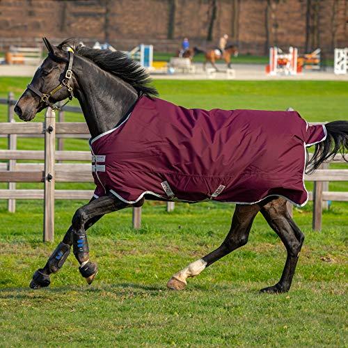 Horseware Amigo Hero Ripstop - Tappeto morbido, 130 cm, colore: Fig/Argento