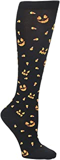 Nurse Mates EKG Heart and Holiday Compression Trouser Socks
