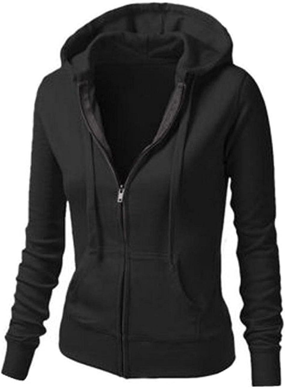 ONHUON Hoodies for Women,Women Hoodies Zip Up Trendy Aesthetic Solid Color Long Sleeve with Pockets Pullover Sweatshirt