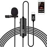 Professional Grade Lavalier Lapel Microphone Omnidirectional Mic 360° Easy Clip On only for USB Type-C Interface Devices Microphone for Recording YouTube/TikTok/Kwai Conference (Black)