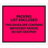 Ship Now Supply SNPL414 Important Papers Enclosed Envelopes 7 x 6 width 7 Length Red (Pack of 1000) [並行輸入品]