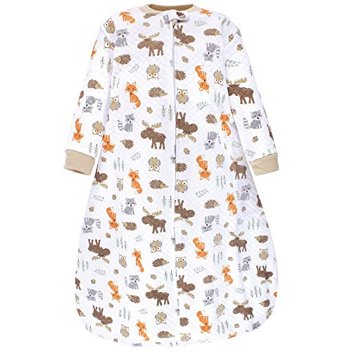 Hudson Baby Unisex Baby Premium Quilted Long Sleeve Sleeping Bag and Wearable Blanket, Woodland, 0-6 Months
