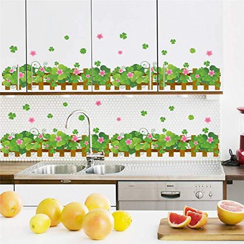 SHKL Muurstickers Landelijke Stijl Tuin Hek Bloem Woonkamer Slaapkamer Keuken Decoratie Decal Home Decor Poster