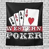 AEMAPE Four Aces Casino Poker Cards Tapiz Vertical para Dormitorio, Tapiz para...