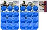 Kitchen Helpis 2er Set Smarte Muffinform BPA-frei und antihaftbeschichtet | incl. Rezepte E-Book, Silikon Muffinform, 12er Muffinblech Silikon, Muffinform Silikon (2)