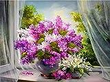 PPMP DIY Handwerk Diamant Malerei lila Strass Kunst 5D Diamant Mosaik handgemachte Blume Dekoration...