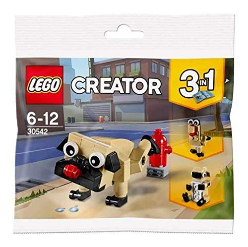 LEGO 30542 Creator 3 in 1 Niedlicher Mops, Cute Pug Polybag