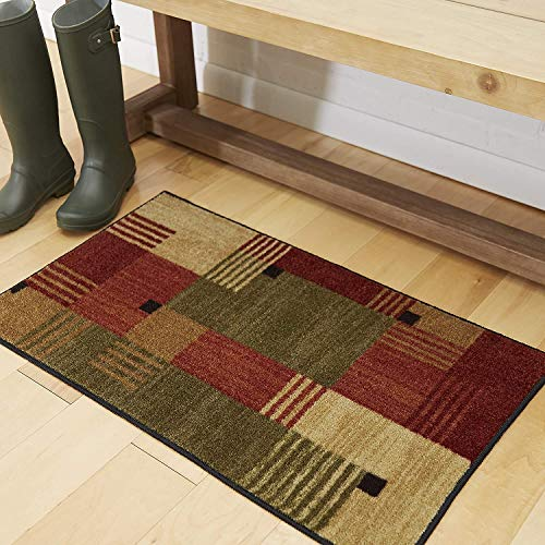 Mohawk Home New Wave Alliance Geometric Accent Area Rug, 2'6'x3'10', Tan/Red/Green