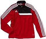 adidas - Sudadera de fútbol Sala Infantil, tamaño 140 UK, Color Rojo/Negro