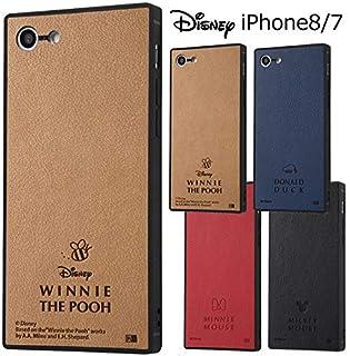 【カラー:ミニーマウス】iPhone8 iPhone7 ディズニー PUレザー 耐衝撃 スクエア ケース カバー キャラクター ミッキー ミニー ドナルド くまのプーさん ハードケース ハード ソフト グッズ シンプル TPU アイフォン iphone8ケース iphone 8 7 スマホケース スマホカバー s-in_7b186