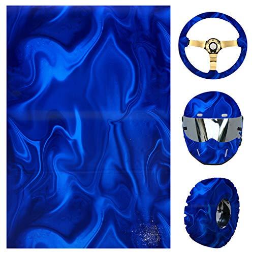 Youliy Wassertransfer-Folie, schneller Druck, Hydro-Dip-Folie, wechselndes Blau, geeignet für Helm, Reifen, Lenkraddekoration S