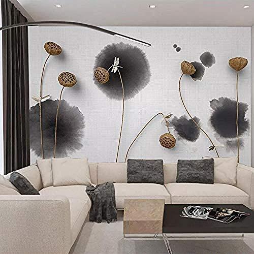 3D Wallpapers Benutzerdefinierte große frische Schlafzimmer Wohnzimmer TV Hintergrund Wand Tinte Zen dreidimensionale Gold Lo fototapete 3d Tapete effekt Vlies wandbild Schlafzimmer-250cm×170cm