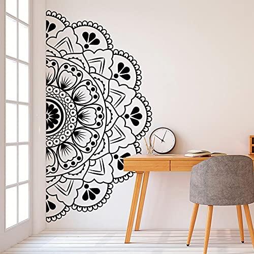Testiera Wall Decal Mezza Mandala Zen Lotus Car Door Window Vinyl Sticker Yoga Camera da Letto Home...