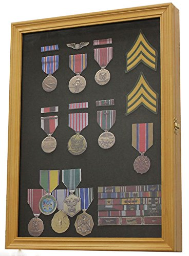 Pin And Medal Display Case Wall Cabinet Glass Solid With Wo Fresno Mall Great interest Door