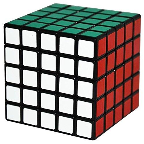 Coolzon® 5x5x5 Cubo Magico Rompecabezas Speed Magic Cube Juego de Puzzle Cube PVC Adhesivo 63mm,Negro
